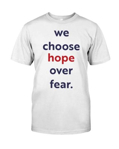 We choose hope over fear