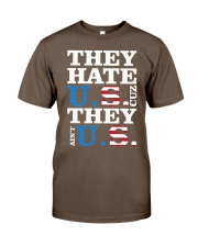 They hate us they ain't us trump t shirt Classic T-Shirt tile