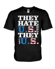 They hate us they ain't us trump t shirt V-Neck T-Shirt thumbnail