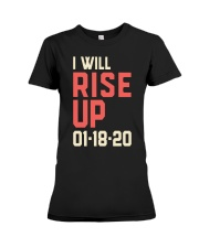 I will Rise UP Premium Fit Ladies Tee front