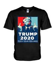 Trump 2020 fuck your feelings T shirt V-Neck T-Shirt thumbnail