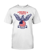 America First Trump 2020  Classic T-Shirt front