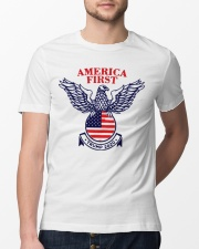 America First Trump 2020  Classic T-Shirt lifestyle-mens-crewneck-front-13