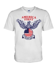 America First Trump 2020  V-Neck T-Shirt thumbnail