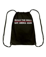 Build The Wall -Safe America Again Drawstring Bag thumbnail