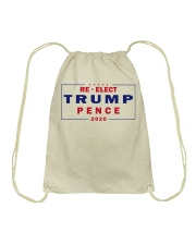Re-Elect Trump pence 2020 t shirt Drawstring Bag thumbnail