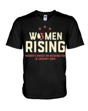 Women's rising 2020 washington Dc  t shirt V-Neck T-Shirt thumbnail
