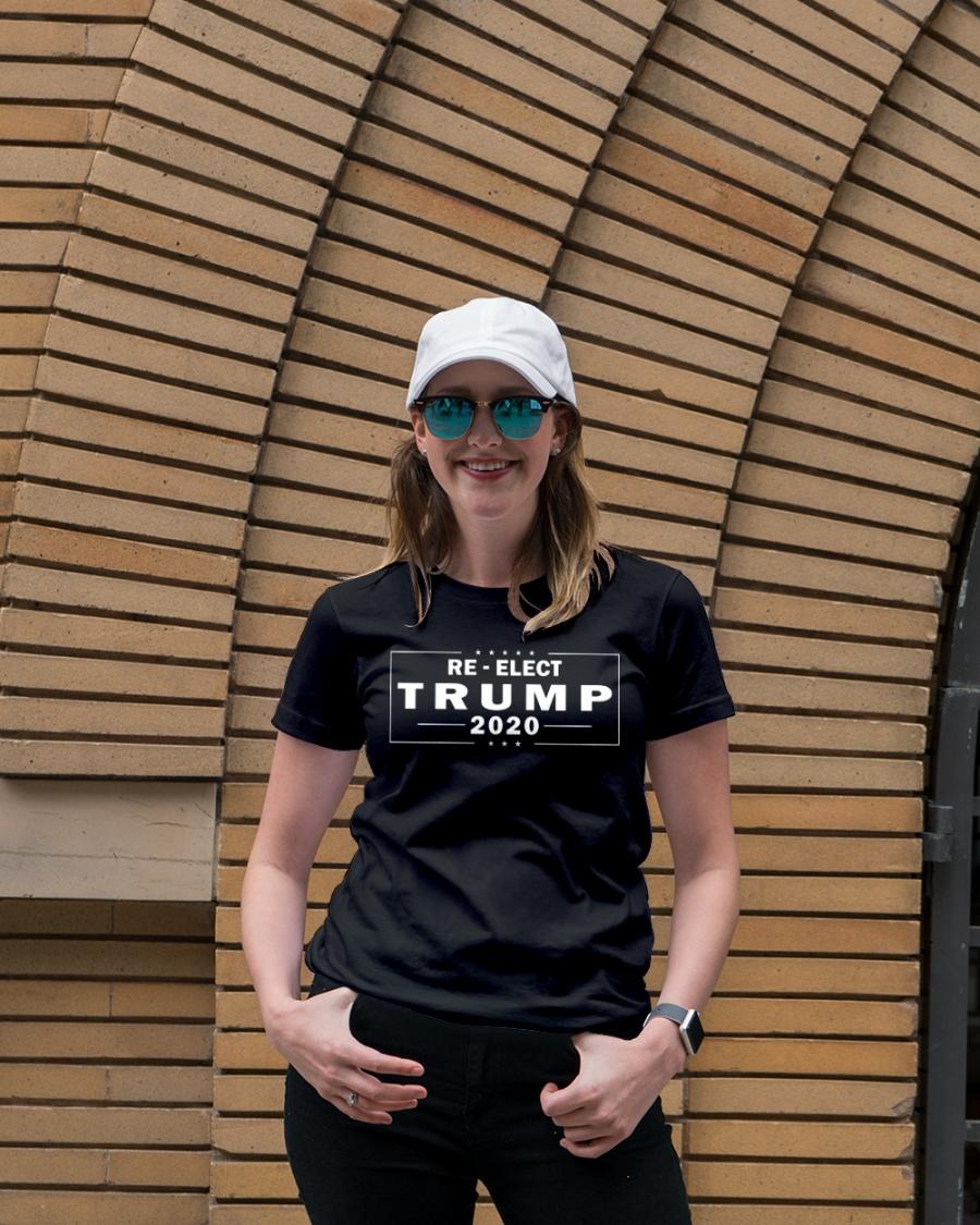 Re-elect Trump 2020 T Shirt Premium Fit Ladies Tee