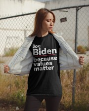 Joe Biden Because Values Matter Classic T-Shirt apparel-classic-tshirt-lifestyle-07