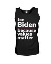 Joe Biden Because Values Matter Unisex Tank thumbnail