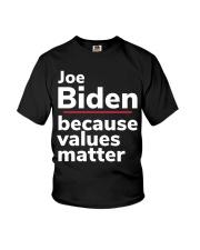 Joe Biden Because Values Matter Youth T-Shirt thumbnail