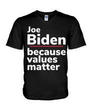 Joe Biden Because Values Matter V-Neck T-Shirt thumbnail