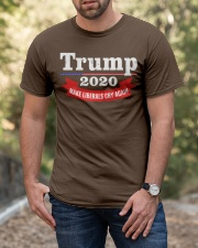 Trump 2020 make liberals cry again Classic T-Shirt apparel-classic-tshirt-lifestyle-front-53