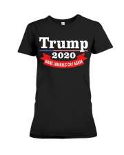 Trump 2020 make liberals cry again Premium Fit Ladies Tee thumbnail