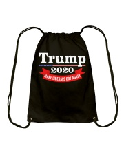 Trump 2020 make liberals cry again Drawstring Bag thumbnail