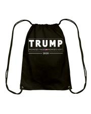 Trump 2020 flag shirt Drawstring Bag thumbnail