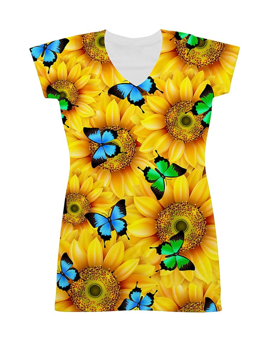 Sunflower Butterfly All-over Dress