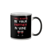 I Will Always Be Your Partner In Wine Color Changing Mug thumbnail