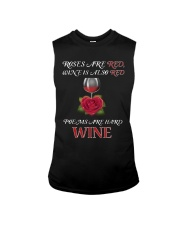 Roses Are Red Wine Is Also Red Poems Are Hard Wine Sleeveless Tee thumbnail