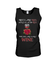 Roses Are Red Wine Is Also Red Poems Are Hard Wine Unisex Tank thumbnail