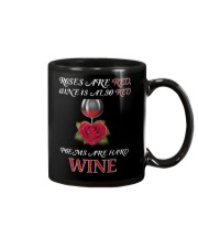 Roses Are Red Wine Is Also Red Poems Are Hard Wine Mug thumbnail