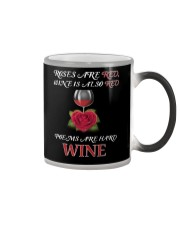 Roses Are Red Wine Is Also Red Poems Are Hard Wine Color Changing Mug thumbnail