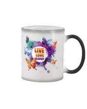 Live Love Laugh Butterfly  Color Changing Mug tile