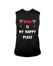 Wine Is My Happy Place Sleeveless Tee thumbnail