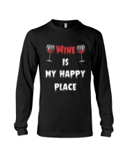 Wine Is My Happy Place Long Sleeve Tee thumbnail