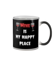 Wine Is My Happy Place Color Changing Mug thumbnail