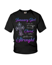 January Gift for Birthday Girl Youth T-Shirt thumbnail
