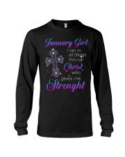 January Gift for Birthday Girl Long Sleeve Tee thumbnail