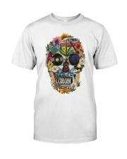 Hippie Skull Flower Classic T-Shirt front