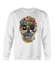 Hippie Skull Flower Crewneck Sweatshirt thumbnail