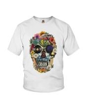 Hippie Skull Flower Youth T-Shirt thumbnail