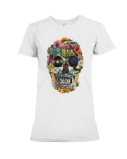 Hippie Skull Flower Premium Fit Ladies Tee thumbnail