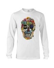 Hippie Skull Flower Long Sleeve Tee thumbnail