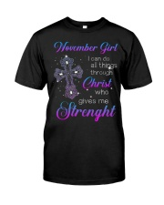 November Gift for Birthday Girl Classic T-Shirt front