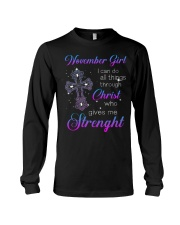 November Gift for Birthday Girl Long Sleeve Tee thumbnail