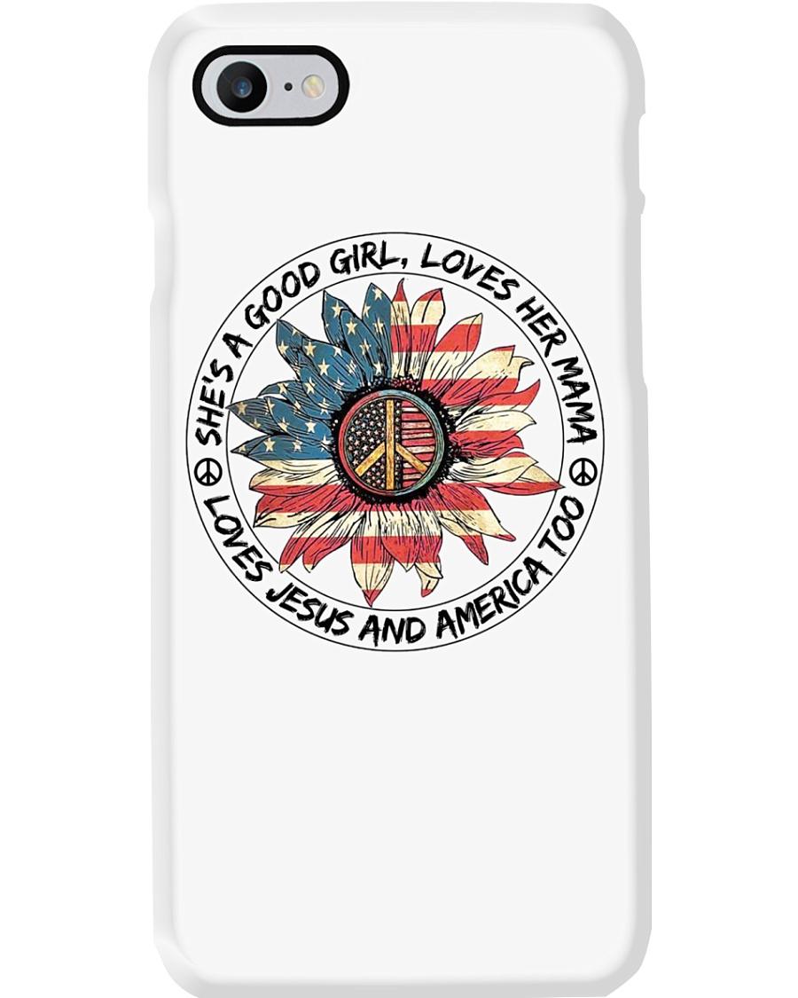 Good Girl Sunflower American Flag Phone Case