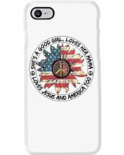 Good Girl Sunflower American Flag Phone Case i-phone-7-case