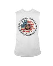Good Girl Sunflower American Flag Sleeveless Tee thumbnail