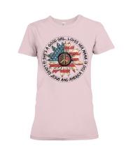 Good Girl Sunflower American Flag Premium Fit Ladies Tee thumbnail