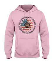 Good Girl Sunflower American Flag Hooded Sweatshirt thumbnail