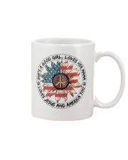 Good Girl Sunflower American Flag Mug thumbnail