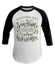 November Gift for Birthday Girl Baseball Tee thumbnail