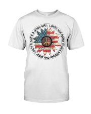 Good Girl hippie American Flag Classic T-Shirt front