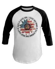 Good Girl hippie American Flag Baseball Tee thumbnail