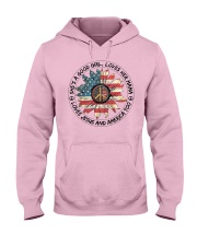 Good Girl hippie American Flag Hooded Sweatshirt thumbnail