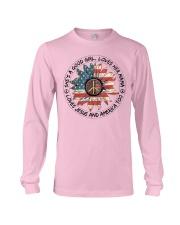 Good Girl hippie American Flag Long Sleeve Tee thumbnail